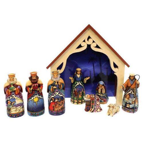 Szopka 9 figurek święta rodzina trzech króli away in a manger (mini nativity) (set 9) 4034382 figurka ozdoba świąteczna marki Jim shore