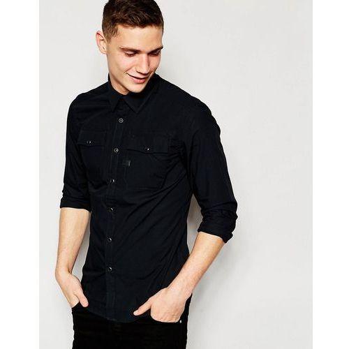 Landoh 2 Pocket Slim Fit Shirt - Black, koszula męska G-Star
