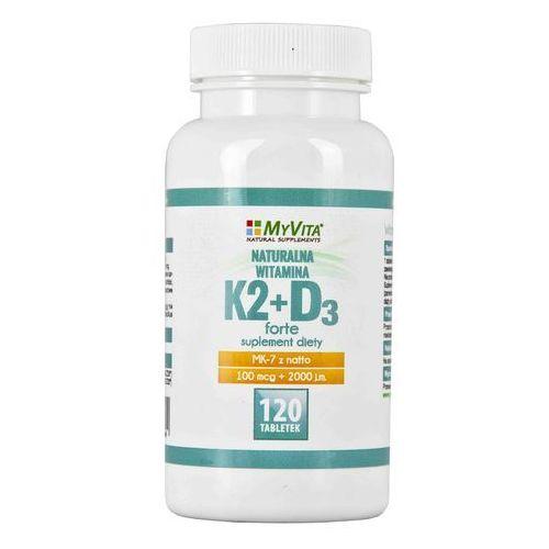 Witamina K2 MK-7 K2MK7 + D3 100mcg+2000IU 120 tabletek MyVita (5905279123694)