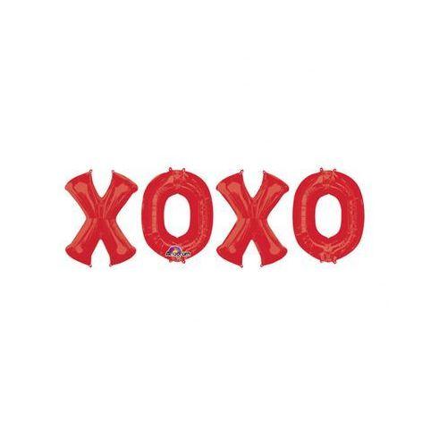 Balony foliowe czerwone XOXO - 4 szt.
