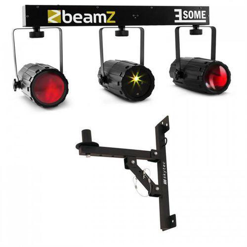 3-some zestaw efektów świetlnych led - laser 5-częściowy z uchwytem ściennym marki Beamz