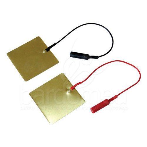 Elektroda aluminiowa 60x60 mm z przyłączem męskim lub żeńskim - 2 lub 4 mm - sprawdź w BardoMed.pl