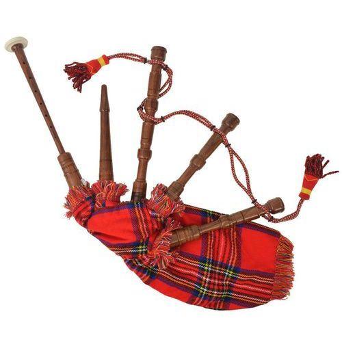 vidaXL Dudy szkockie dla dzieci w czerwoną kratę Royal Stewart