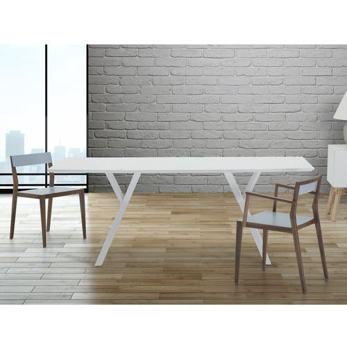 Stół do jadalni, kuchni, salonu - 180 cm - biały - LISALA - produkt dostępny w Beliani
