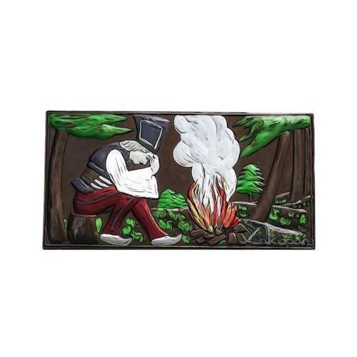"""Czekolada ręcznie malowana """"janosik przy watrze"""" - deserowa marki Góralskie praliny"""