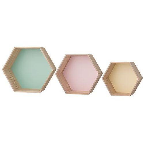 Półki kolorowe, komplet 3 sztuki 50200024 - sprawdź w North&South Home