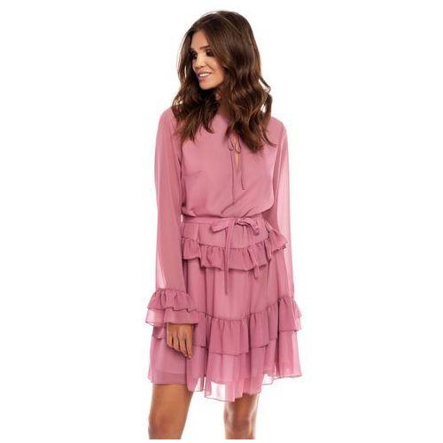 Sugarfree Sukienka alyssa w kolorze brudnego różu
