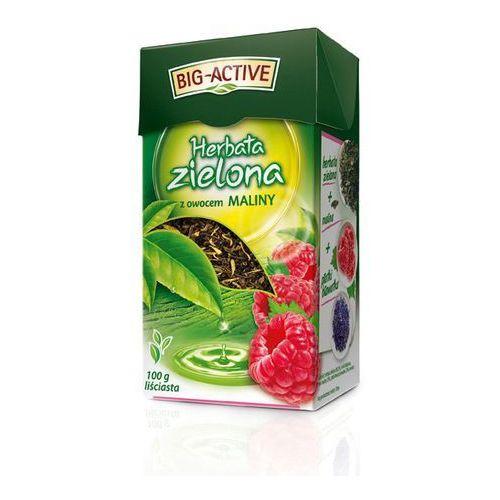 Bio-Active Zielona z Maliną 100g herbata liściasta