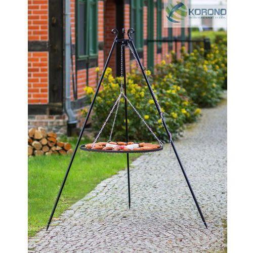 Grill na trójnogu z rusztem ze stali nierdzewnej 180 cm / 60 cm średnica, marki Korono