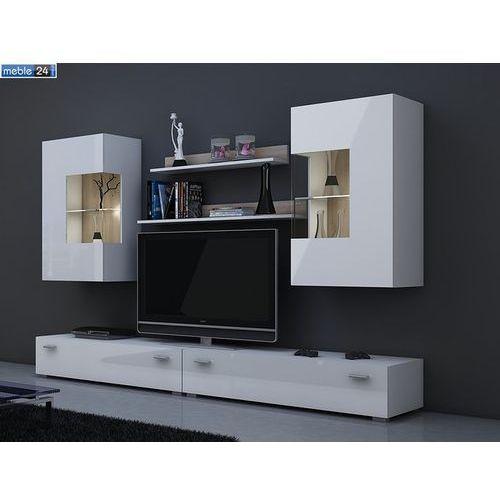 Mebloscianka biały wysoki połysk vip HILTON 220/180/42 cm