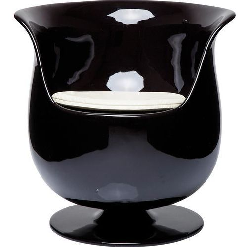 Cappuccino Fotel Obrotowy Czarny Stal Chromowana Włókno Szklane Tkanina Skóra Ekologiczna - 78645, marki Kare Design do zakupu w sfmeble.pl