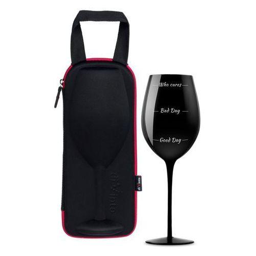 Kieliszek na wino w etui diVinto Who cares - black, GAD02389