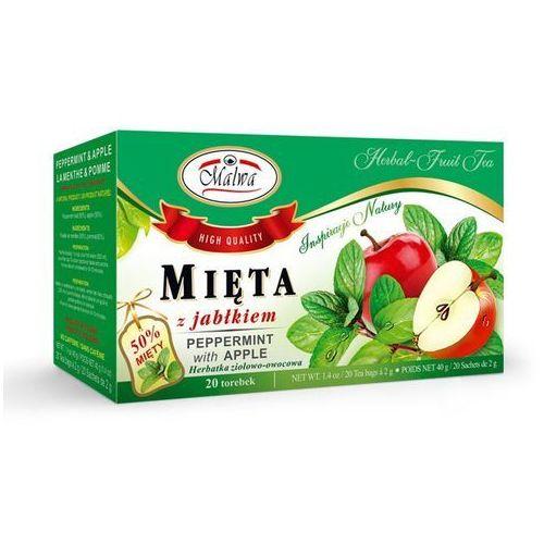 Herbaty malwa Herbata mięta z jabłkiem jabłko apple zioła malwa