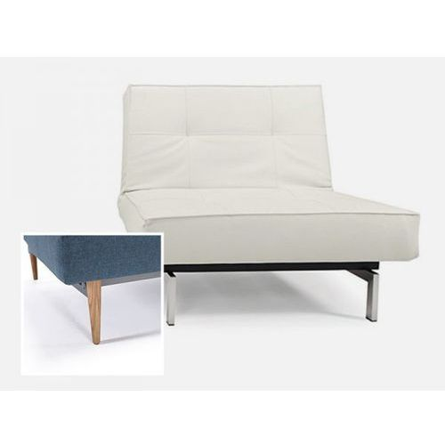 Fotel Splitback biały 588 nogi jasne drewno  741011588-741025-1-6, marki INNOVATION iStyle do zakupu w sfmeble.pl