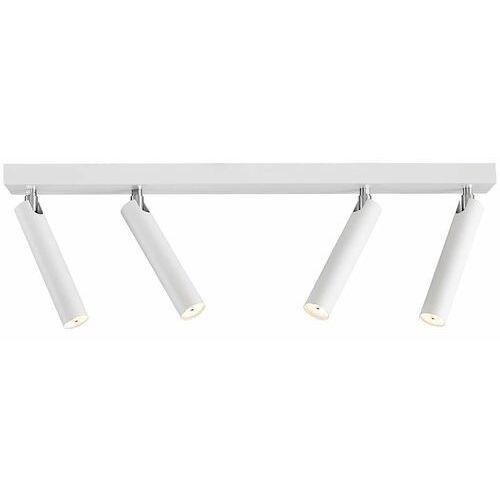 Plafon lampa sufitowa roll 50704401 minimalistyczna oprawa metalowa led 16w ruchome reflektorki tuby białe marki Kaspa