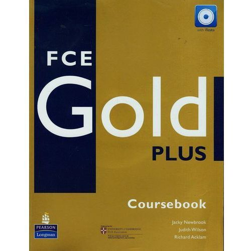 FCE GOLD PLUS Coursebook (podręcznik) plus iTest CD-ROM, Newbrook Jacky