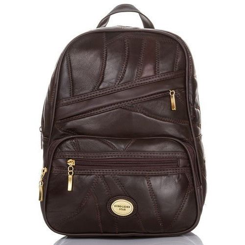 bce34150abccf Skórzany patchworkowy plecak damski czekoladowy - brązowy 79,90 zł niewiele  znaczący plecaczek kobiecy, wykonany ze zszytych ze sobą miękkich i miłych  w ...