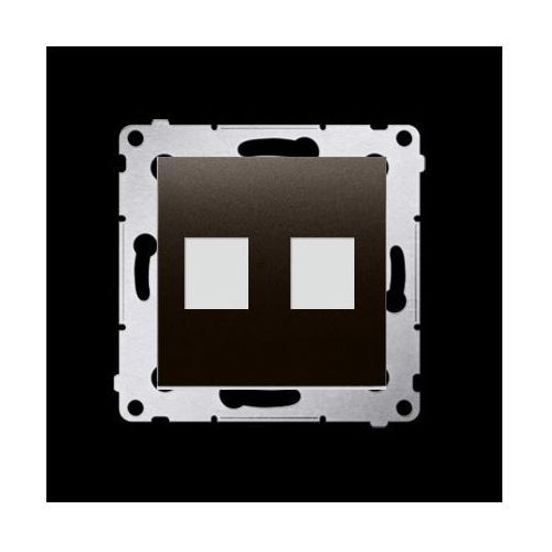 Kontakt-simon Pokrywa gniazd teleinformatycznych na keystone płaska podwójna (moduł); brąz mat