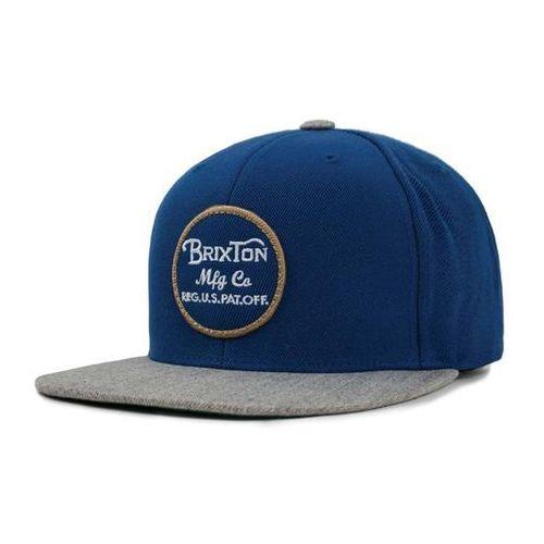 czapka z daszkiem BRIXTON - Wheeler Snapback Dark Blue/Light Heather Grey (DBLHG), kolor niebieski