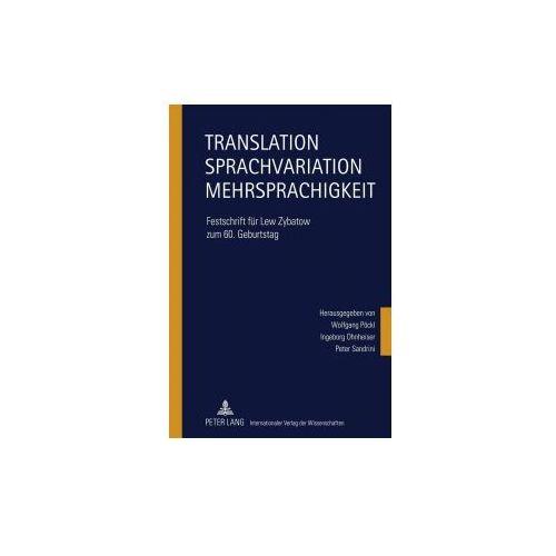 Translation - Sprachvariation - Mehrsprachigkeit (9783631600009)