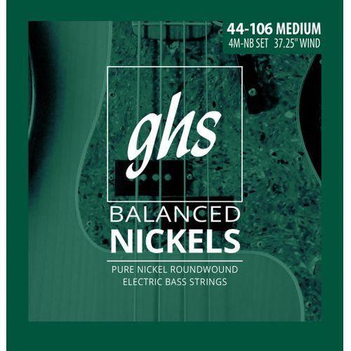 Ghs balanced nickels - struny do gitary basowej, medium,.044-.106