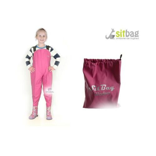 Sitbag Wodery spodniobuty kalosze dla dzieci - różowy