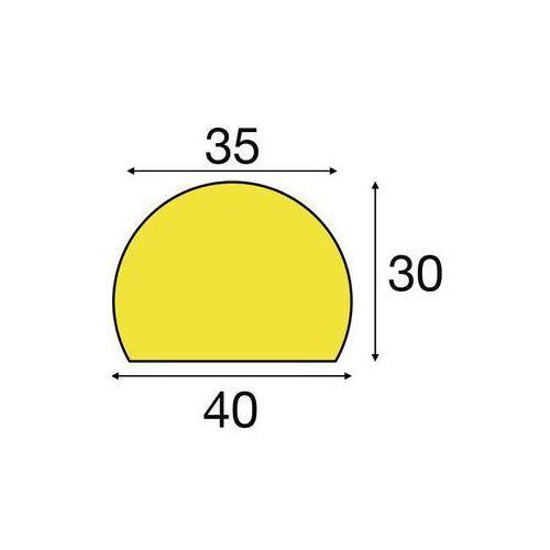 Shg pur-profile Zabezpieczenie powierzchni knuffi®,typ c, indywidualne docięcie, na metr bieżący