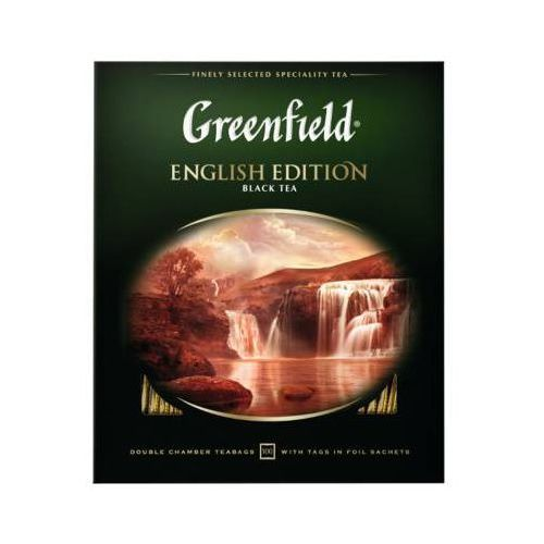100x2g english edition herbata czarna ekspresowa marki Greenfield