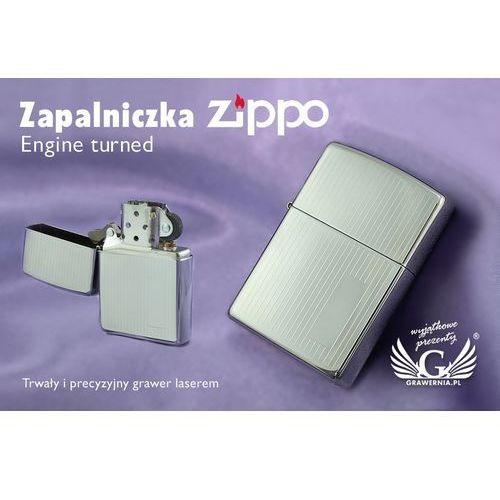 Zippo Zapalniczka engine turned high polish chrome