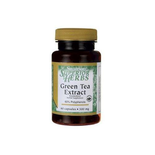 green tea extract 500mg- ekstrakt zielonej herbaty, 60 tabl marki Swanson