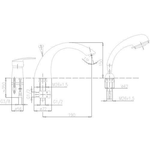 KFA RUBIN 565-210-00 - produkt z kat. baterie wannowe