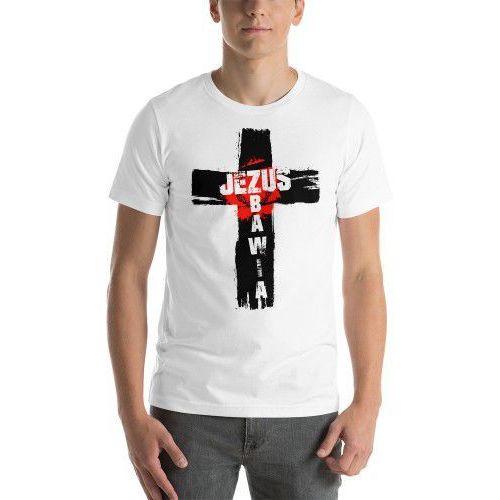 Koszulka chrześcijańska jezus zbawia marki Produkt polski