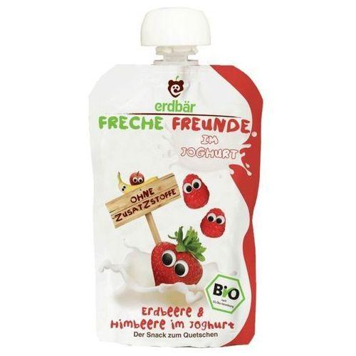 Erdbar Jogurt do wyciskania truskawka-malina 100g eko dla dzieci