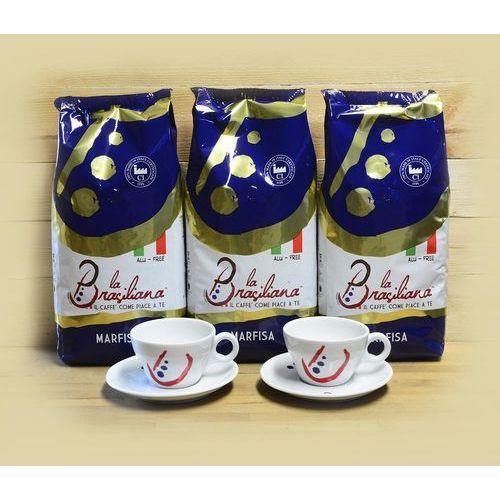 La brasiliana Zestaw promocyjny 3kg kawy marfisa + 2 filiżanki la brasiliana cappuccino vienna