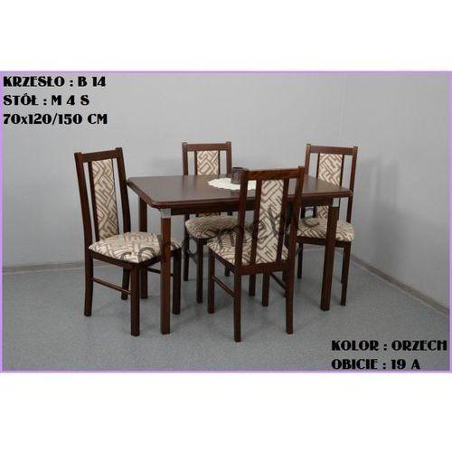 ZESTAW ZEFIR III 4 KRZESŁA B 14 + STÓŁ M 4 S 70x120/150 CM - produkt z kategorii- zestawy mebli do salonu