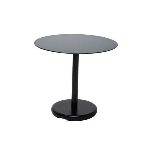 Kare Design Side Table Circle Black Stal/Szkło Ø 50 cm (76865), Kare Design z sfmeble.pl