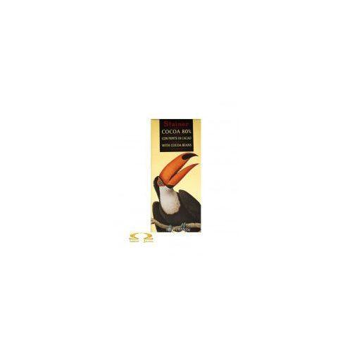 Czekolada 80% z ziarnami kakaowca marki Stainer