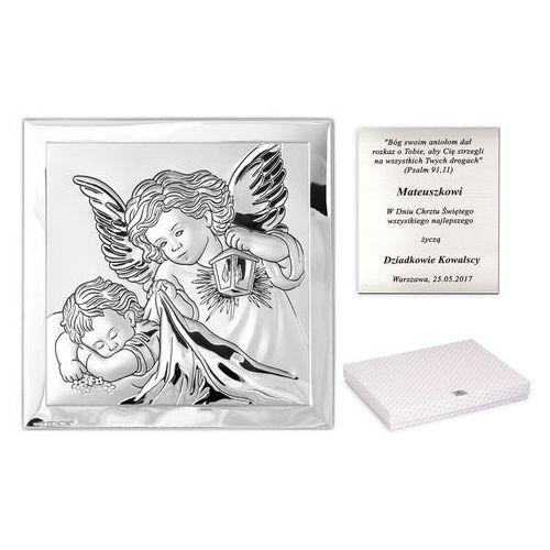 Obrazek anioł stróż prezent na chrzest grawer pr222 marki Murrano