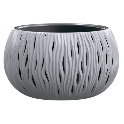 Prosperplast Doniczka sandy bowl z wkładem 37 cm szara