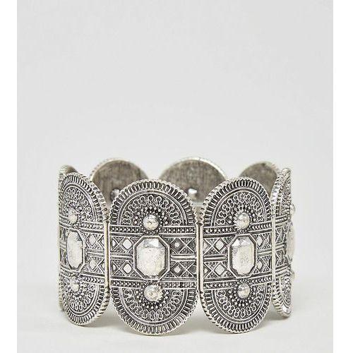 exclusive engraved stretch bracelet - silver marki Asos curve