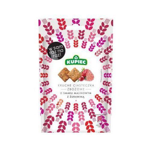 Ciasteczka kruche zbożowe malinowe z żurawiną 50 g marki Kupiec
