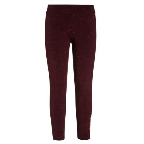 adidas Performance Legginsy colligiate burgundy/maroon/still breeze, kolor czerwony