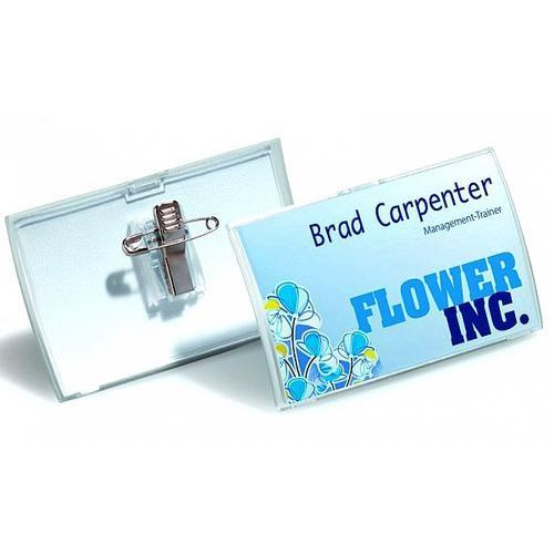 Durable Identyfikator 54x90mm click fold z kombi klipem 8214-19, 25szt.