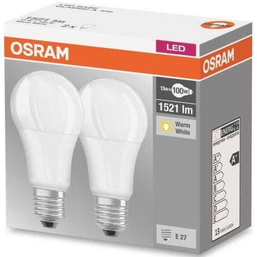 Osram ledvance żarówka led base classic a100 13w (100w) 1521lm e27 2700k (2szt)
