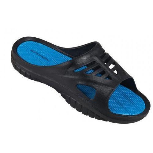 Spokey Klapki basenowe merlin czarno-niebieski (rozmiar 41)