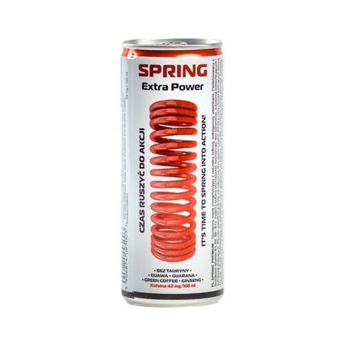SPRING 250ml Energy drink Napój energetyzujący puszka aż 42mg naturalnej kofeiny