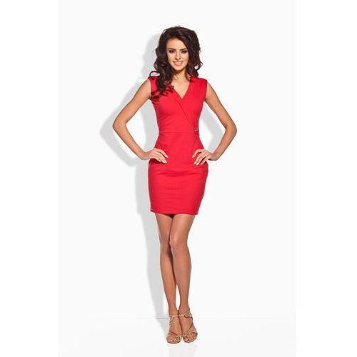 Czerwona Sukienka z Kopertową Górą, GL134re