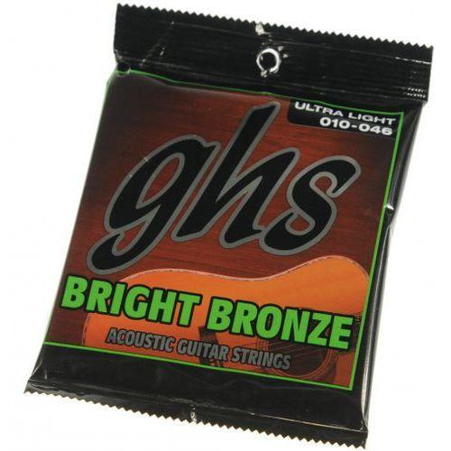 bright bronze 10u struny do gitary akustycznej 10-46 marki Ghs
