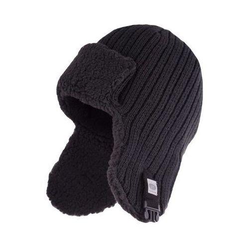 Zimowa czapka, uszatka męska - Czarny - Czarny (5902934013789)