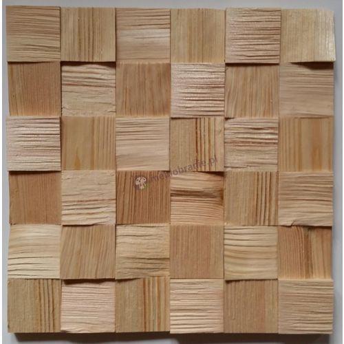 Panele drewniane Sosna skandynawska Kostka łupana 3d *040 - Natural Wood Panel, Natural Wood Panels